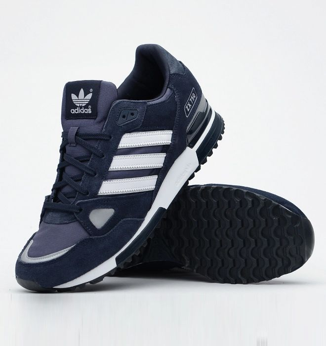 new concept 9dd3e 84892 Adidas Originals ZX750 Mens Running Trainer Shoes Navy